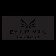 by air mail per avion postmark wall art decal