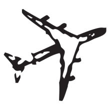 airplane stamp postmark wall art decal