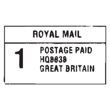 royal mail postage paid postmark wall art decal