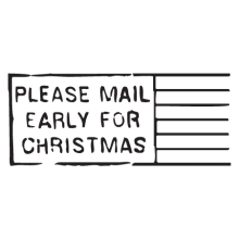 mail early for christmas postmark wall art decal