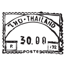 thailand post postmark wall art decal