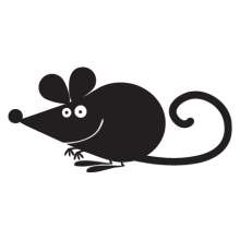 mouse party animal wall art decal