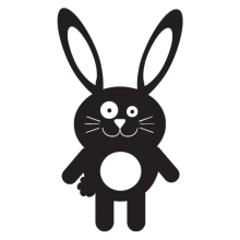 bunny party animal wall art decal