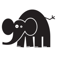 elephant party animal wall art decal