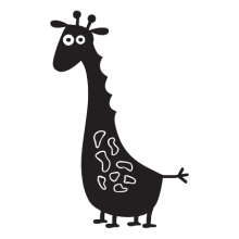 giraffe party animal wall art decal