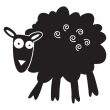sheep party animal wall art decal