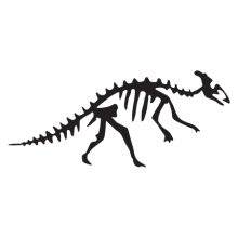 dickbilled dinosaur fossil wall art decal