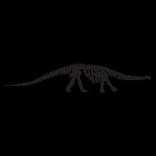 brontosaurus dinosaur fossil wall art decal