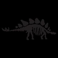 stegosaurus dinosaur fossil wall art decal