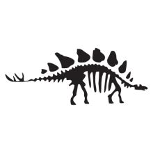 stegosaurus dinosaur fossil wall art decal