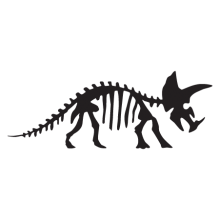 triceratops dinosaur fossil wall art decal