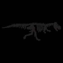 tyrannosaurus dinosaur fossil wall art decal