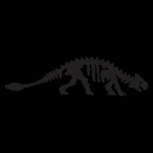 ankylodon dinosaur fossil wall art decal