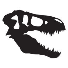 t-rex skull dinosaur fossil wall art decal