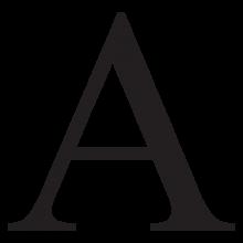 alpha uppercase gek letter wall art decal