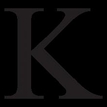 kappa uppercase greek letter wall art decal