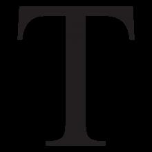 tau uppercase greek letter wall art decal