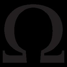 omega lowercase greek letter wall art decal