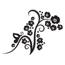 elegant floral wall decal