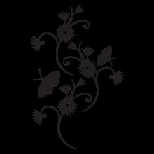 elegant floral wall decal
