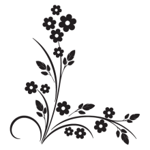 modern floral #15 vinyl wall decal