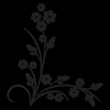 modern floral #15 vinyl wall decal