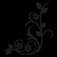 modern floral #31 vinyl wall decal