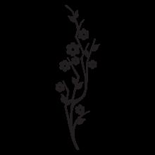 modern floral #33 vinyl wall decal