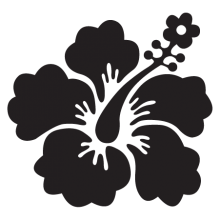 hibiscus element #10 wall art decal