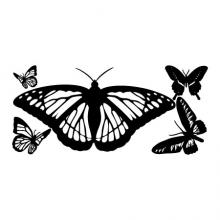 Butterflies Wall Quotes Wall Art vinyl Decal girls, nature, bugs, pretty, butterfly, flower, fly,