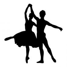 Couple Ballet Dancers wall quotes wall art wall decal dance tutu