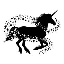 Unicorn with sparkles wall quotes wall decal wall art fantasy pretend princess fairy world