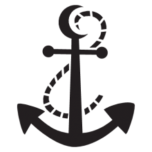 Rope and anchor wall decal