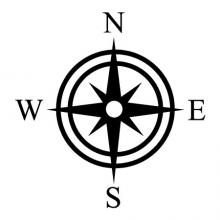 star compass wall quotes vinyl wall decal navigation north star legend