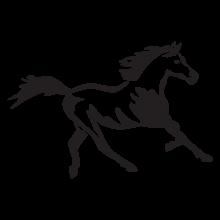 Running horse wall decal