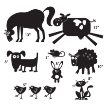 farm animals wall decals
