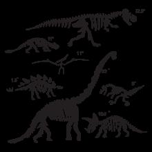 Dinosaur fossils wall decals