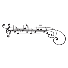 Treble Clef Wall decal