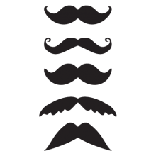 five mustaches wall decals