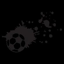 soccer ball splatter wall decal