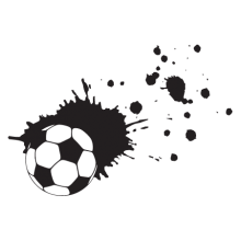 soccer ball splatter wall decal