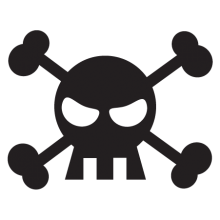 skull & crossbones wall decal
