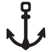Square prong anchor wall decal