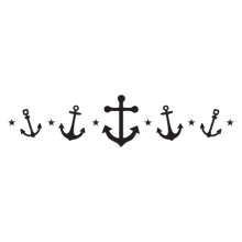 Anchors & Stars wall decal