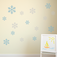 Snowflakes-Two colors set of 15
