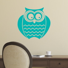 Funky Owl with chevron stomach