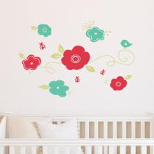 blossoms and ladybugs decal kit