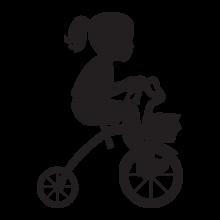 little girl riding trike