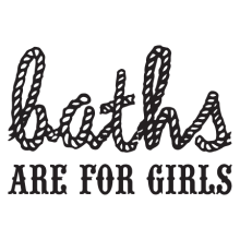 baths are for girls wall quotes decal