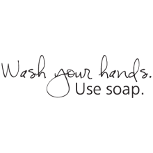 wash your hands wall decal